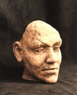 earthernware, life-size head