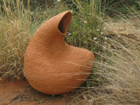 terracotta sculptured vessel