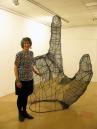 A see -through sculpture of a big hand